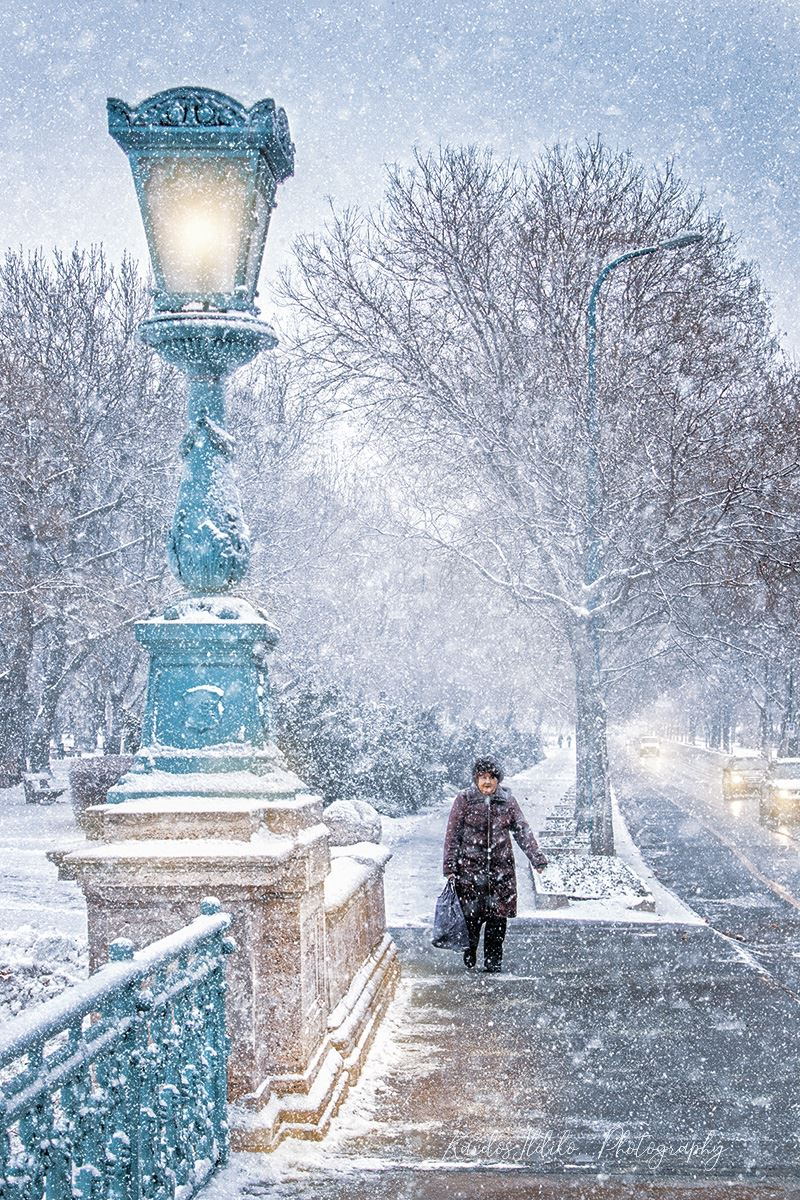 Budapest Winter Snow Városliget Park