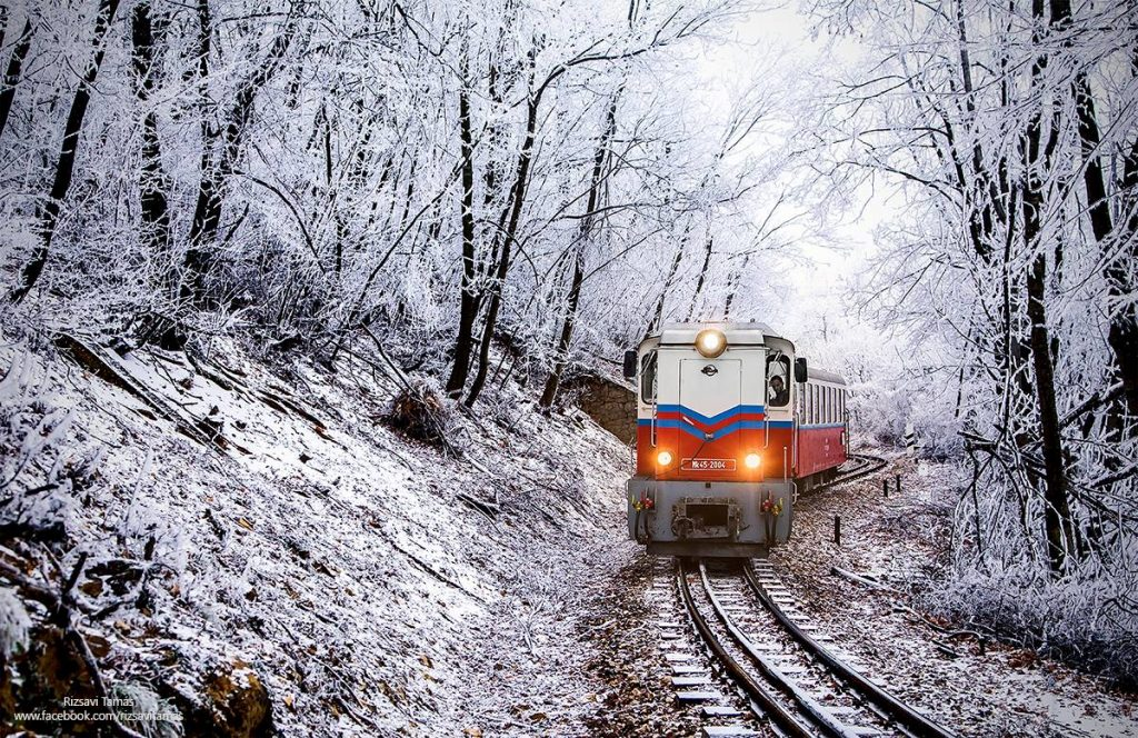 Budapest Snow Winter Train Forest
