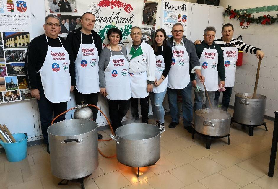 Free Hungarian stew in Rome