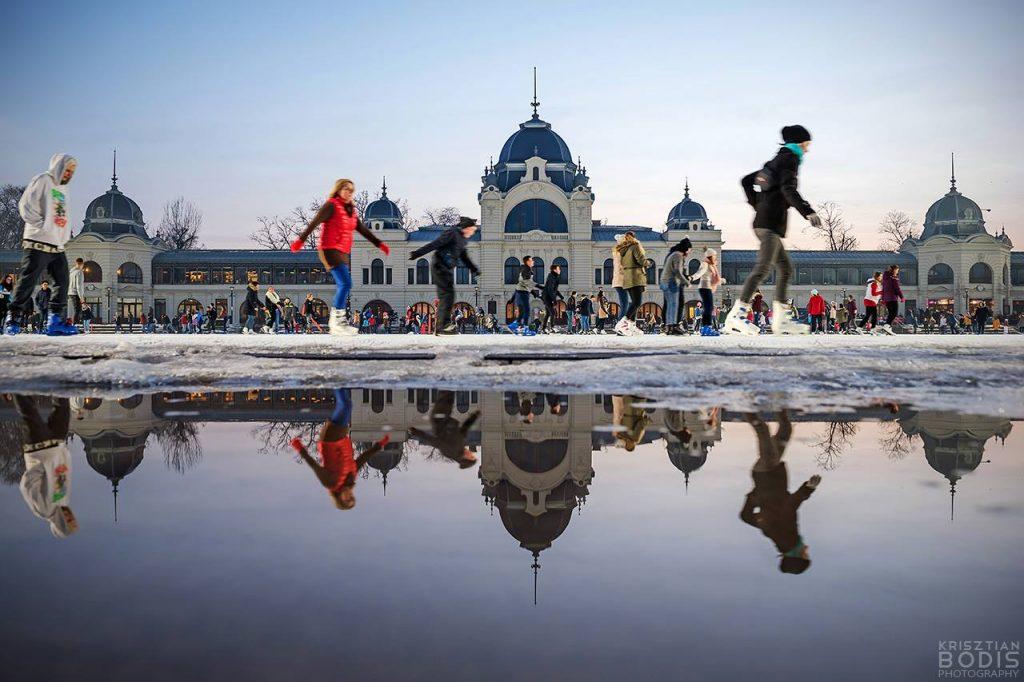Budapest Snow Winter Városliget Ice Rink