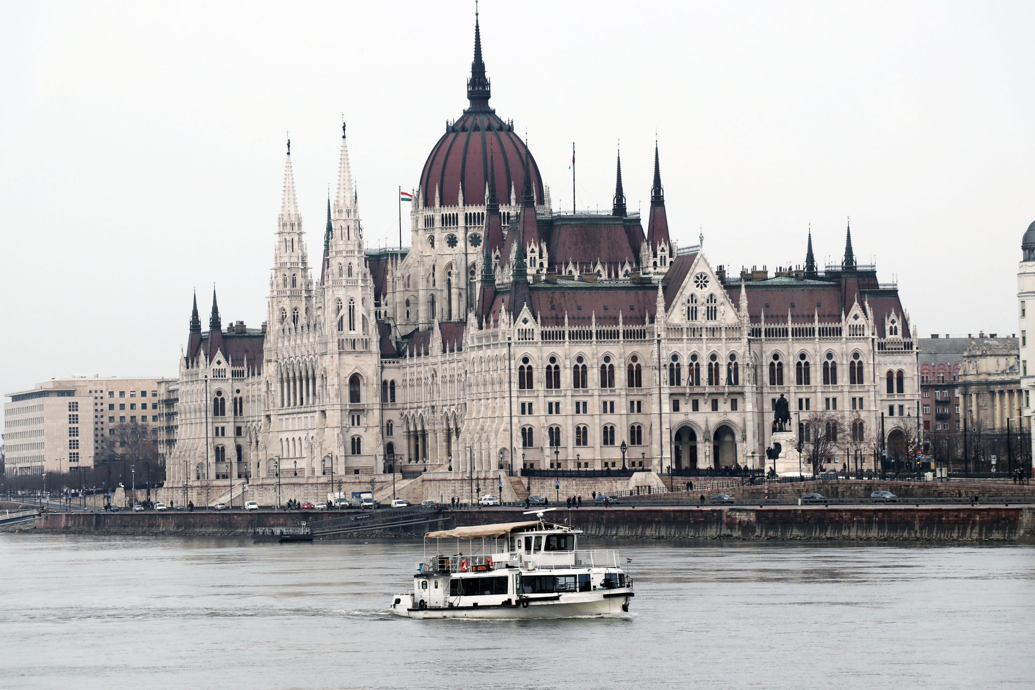 Budapest parliament winter Danube