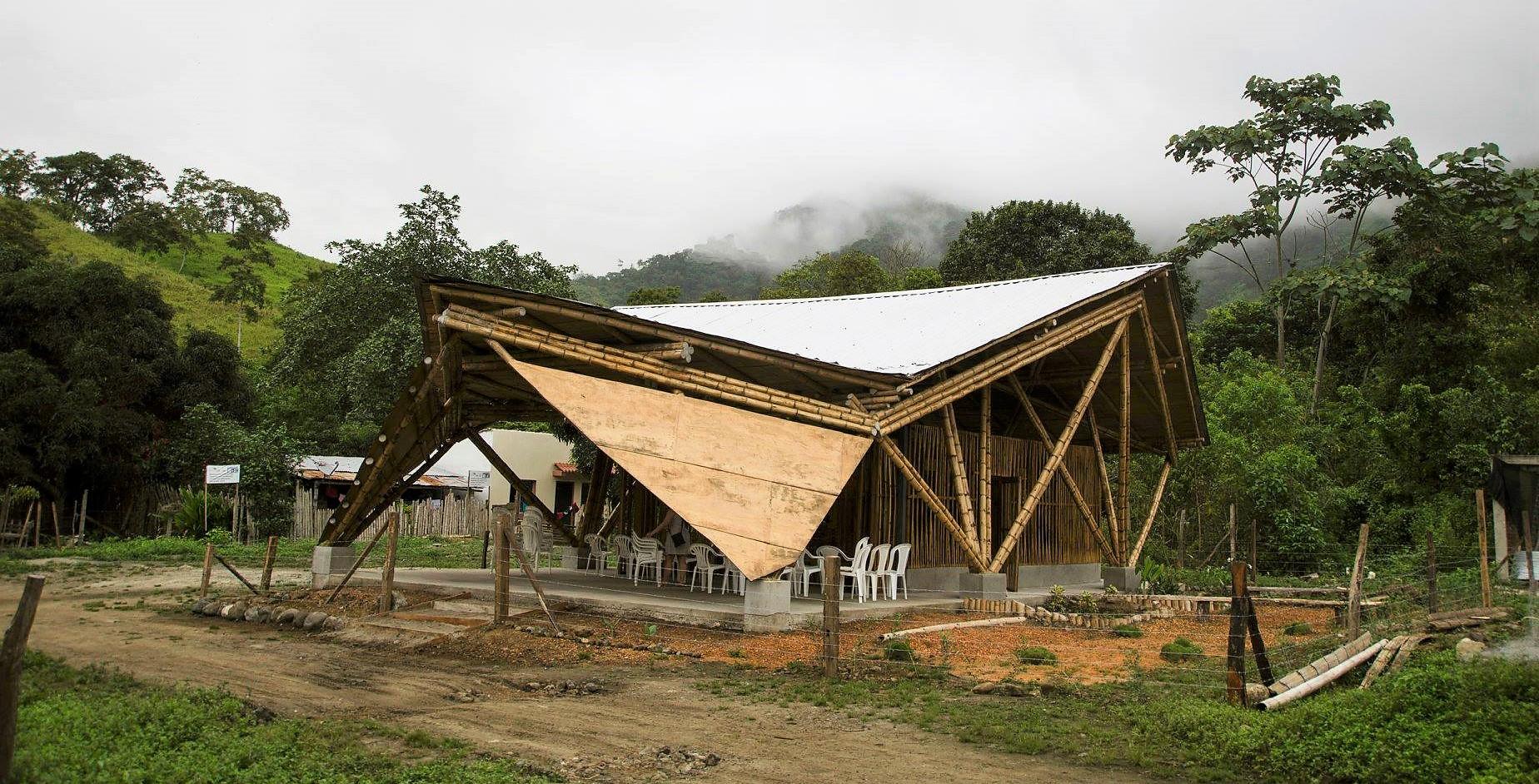 chapel, bamboo, Ecuador, building