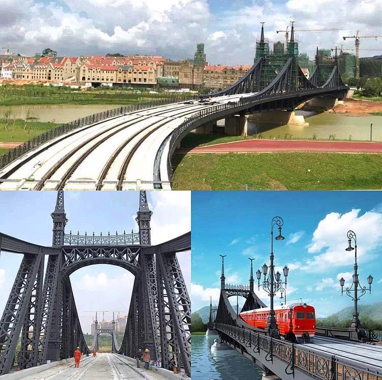 China, Liberty Bridge, replica, bridge