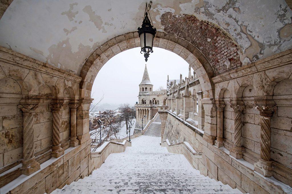 Budapest Winter Snow Halászbástya
