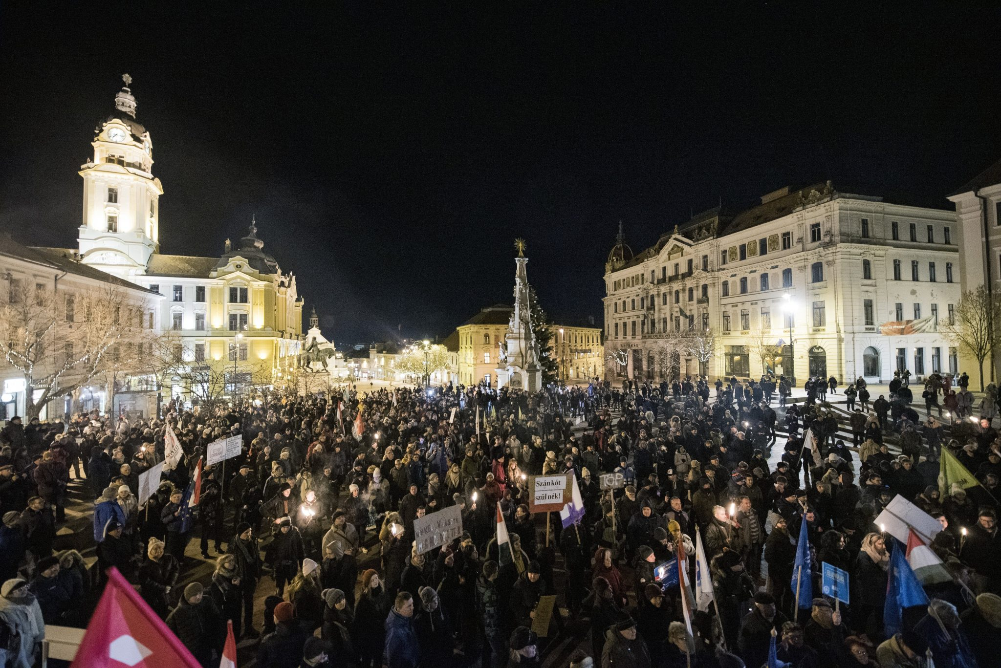 Pécs demonstration