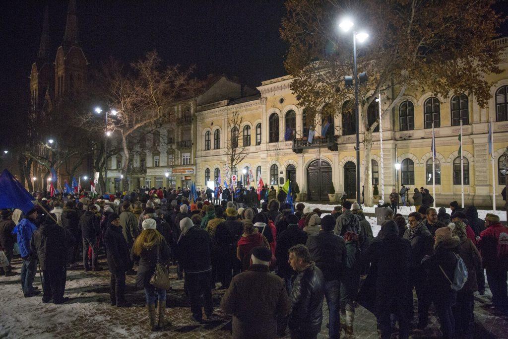 demonstration Békéscsaba Hungary