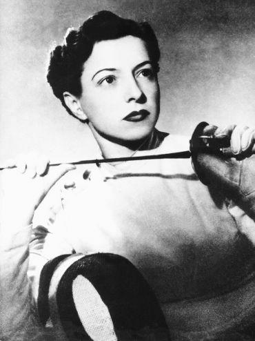 Ilona Elek, sportswoman, fencer, champion, Olympic, history