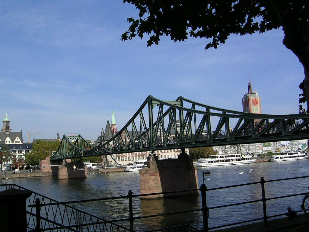 Frankfurt, bridge, replica, Germany