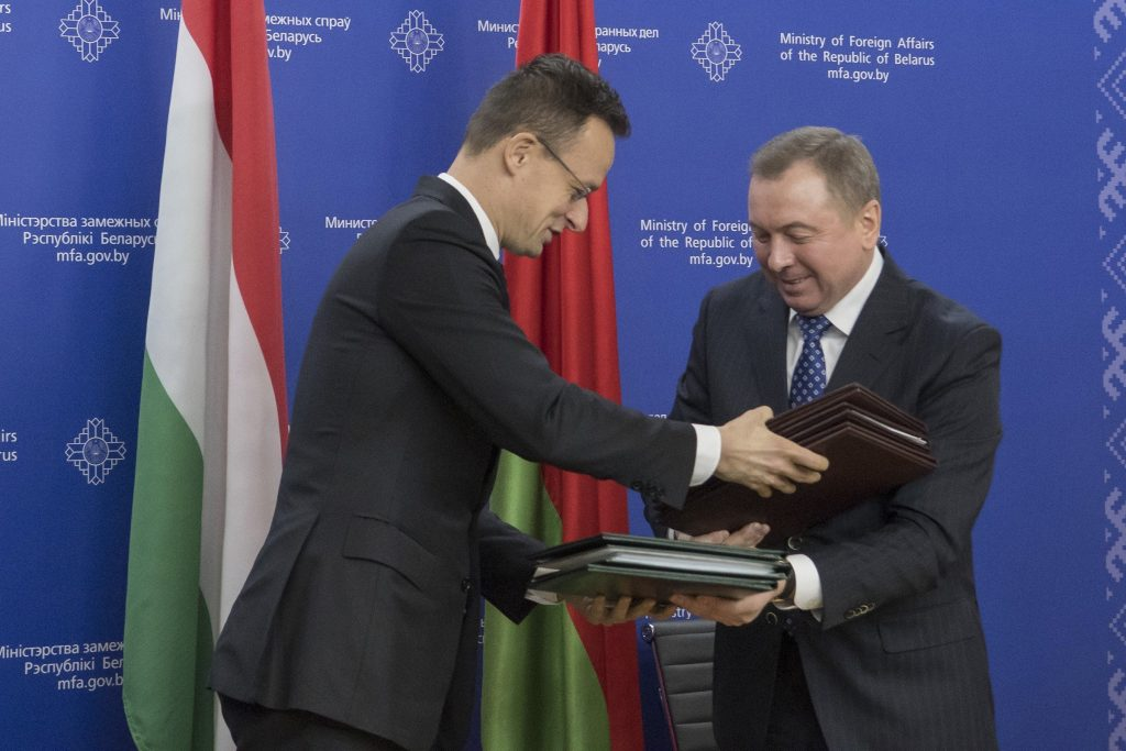 Belarus Hungary foreign ministers