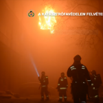 Budapest dorm on fire