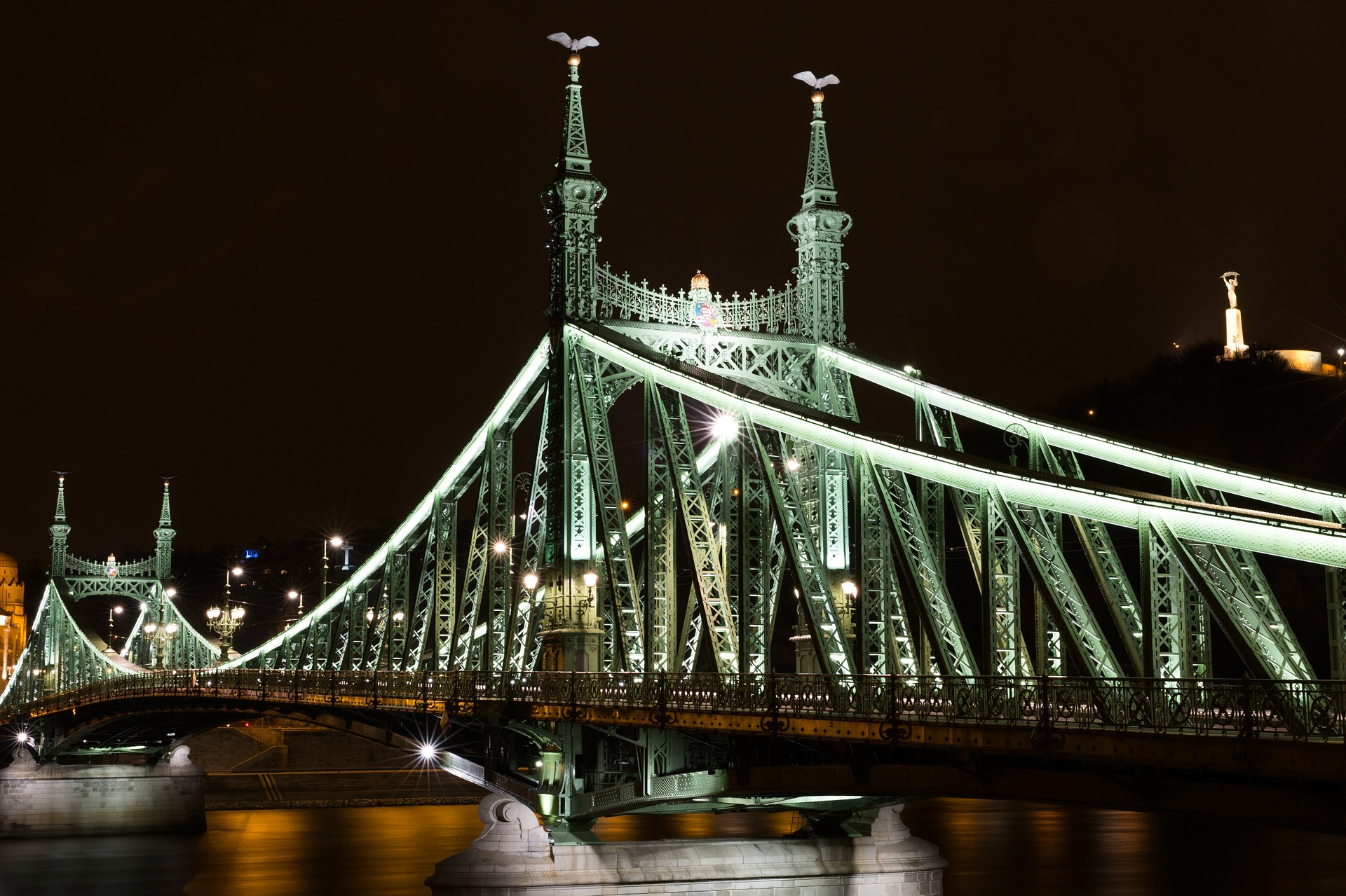 Liberty Bridge, Budapest, Hungary, bridge, sight