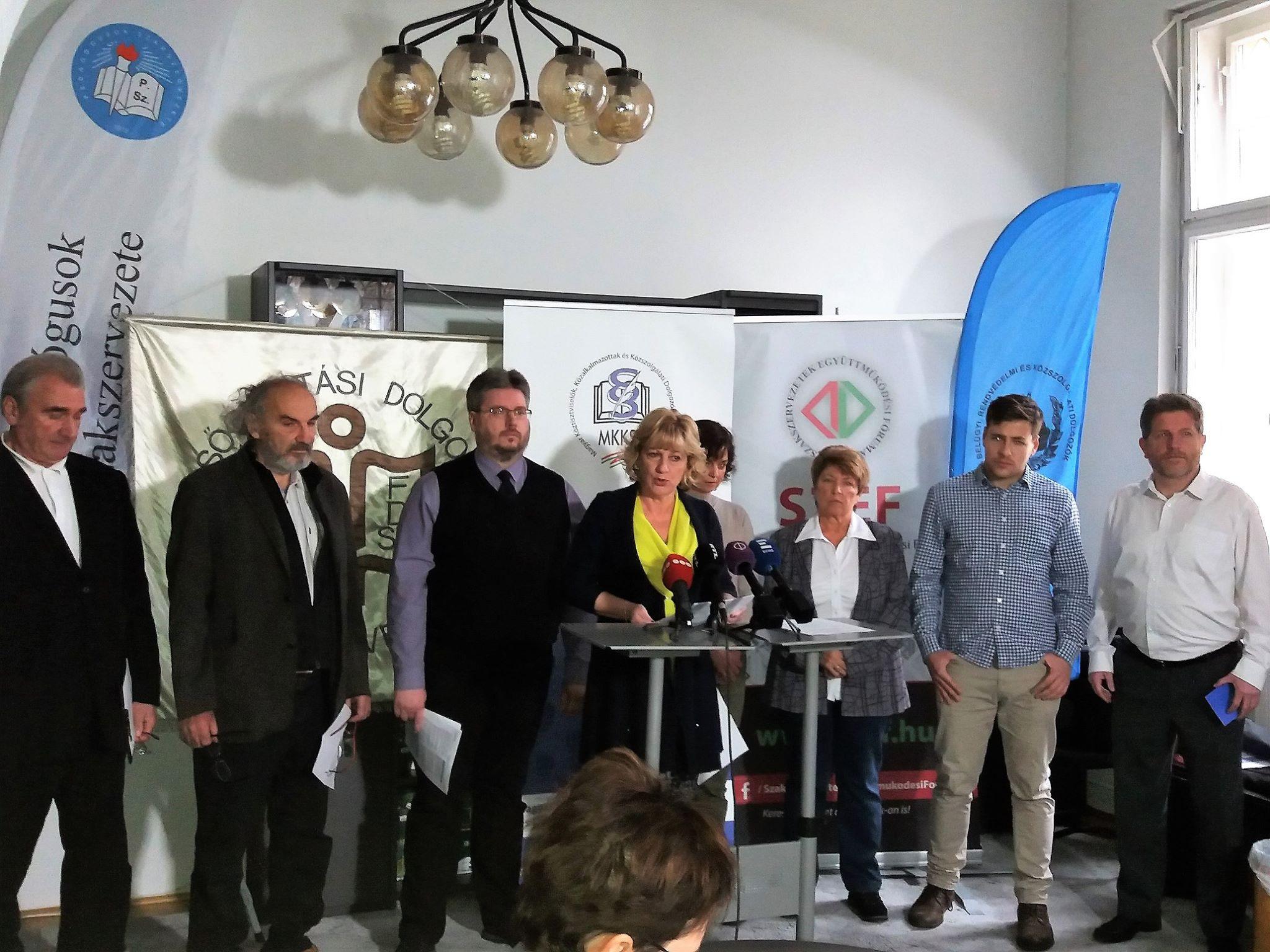 MKKSZ, press, strike, conference