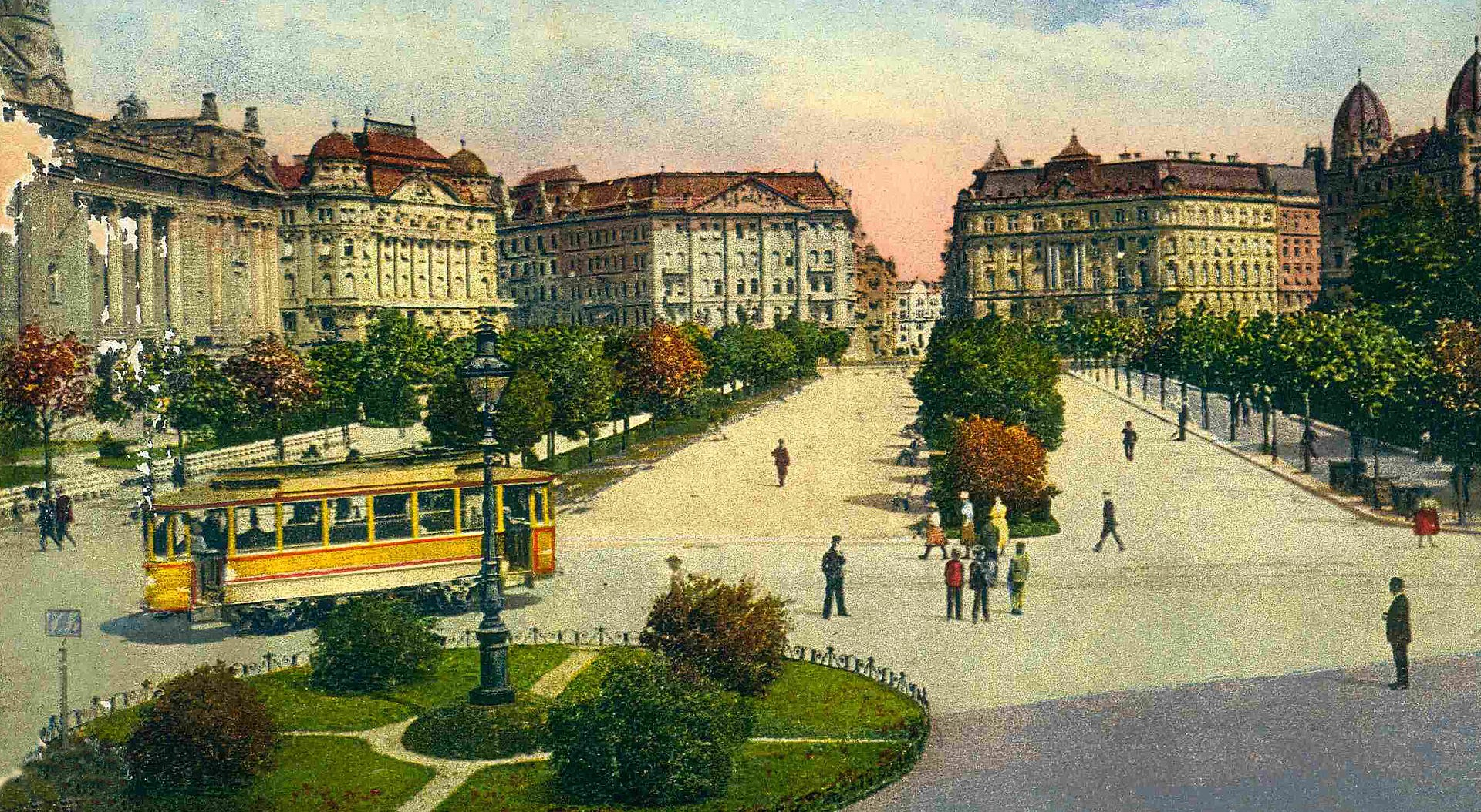 Budapest, old, picture, postcard