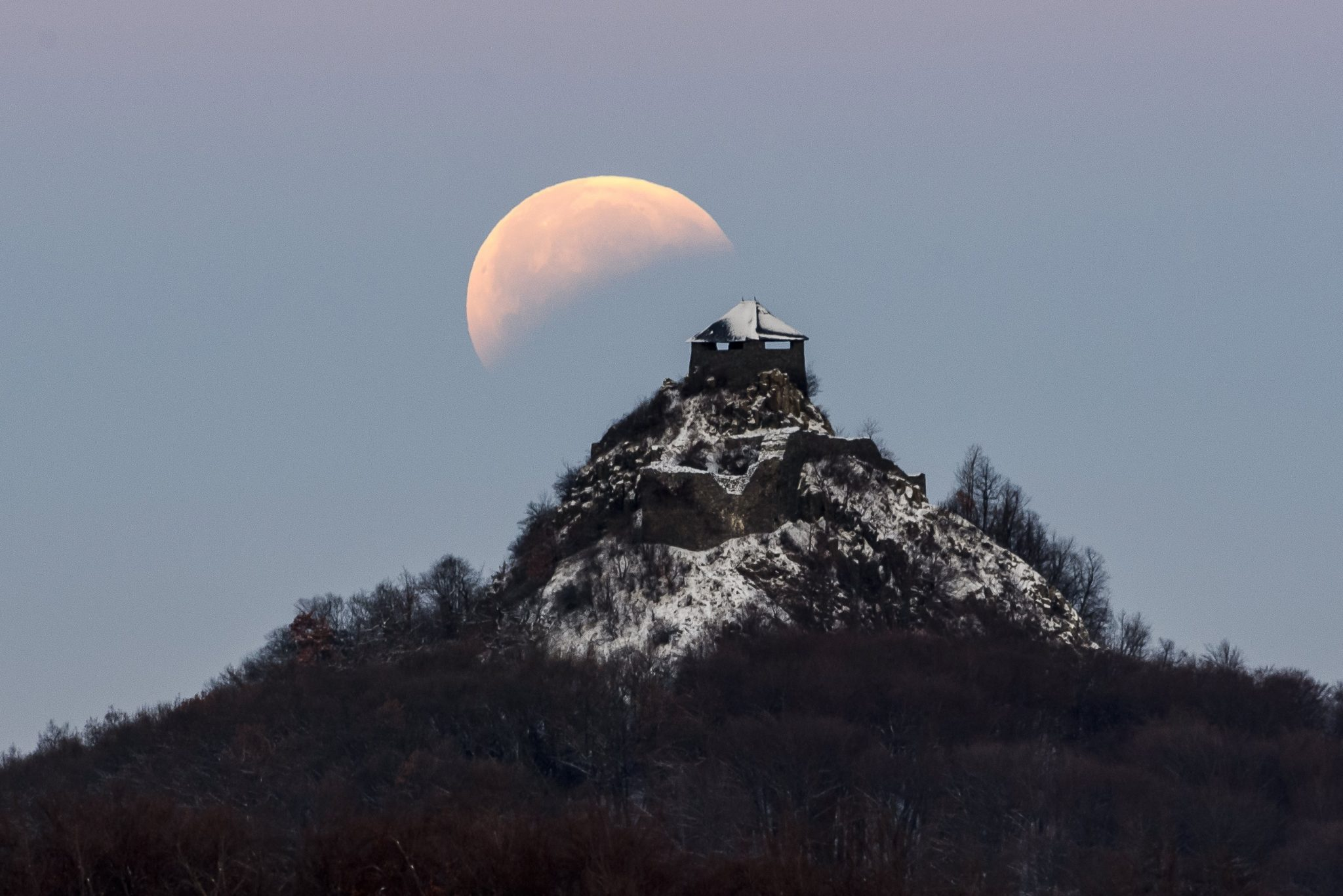 Photos of Super Blood Wolf Moon of 2019 - The view from Hungary!