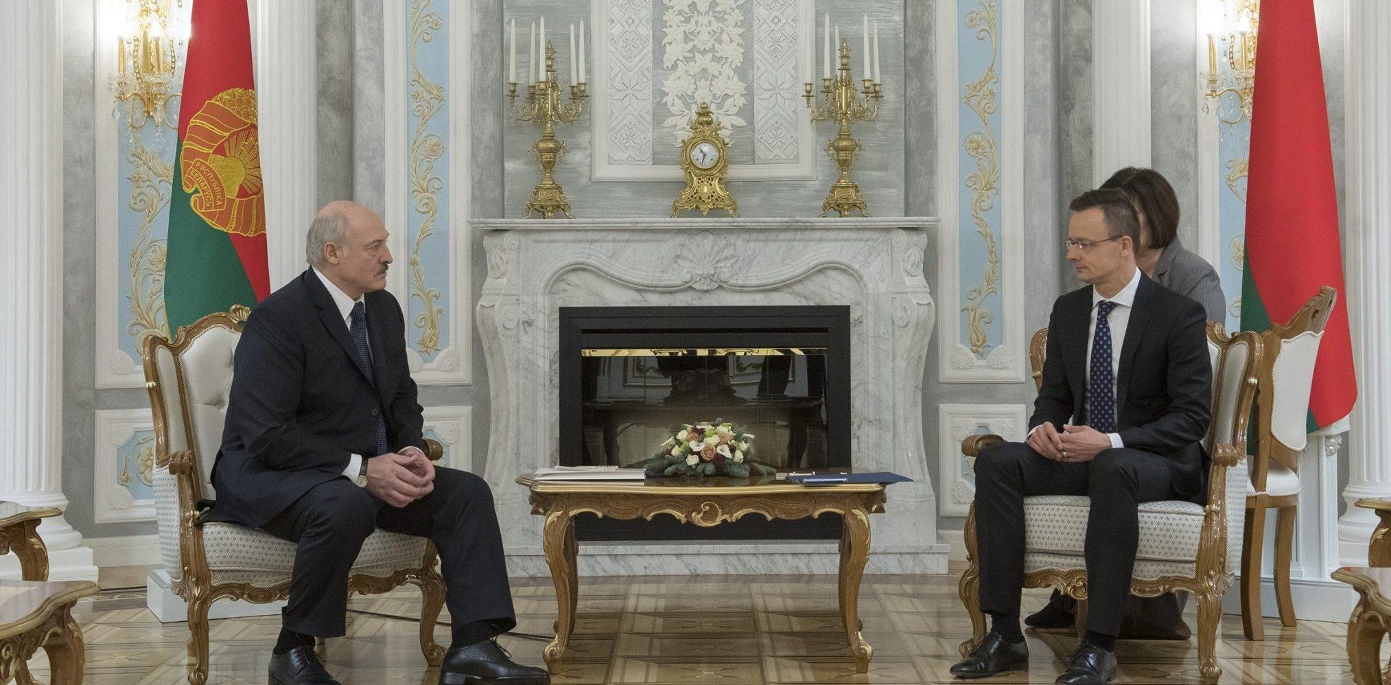 President Alexander Lukashenko and Szijjártó foreign minister Hungary