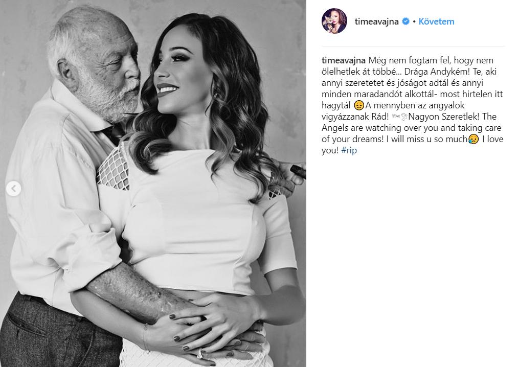 Tímea Vajna, Instagram, Andy Vajna, death, post