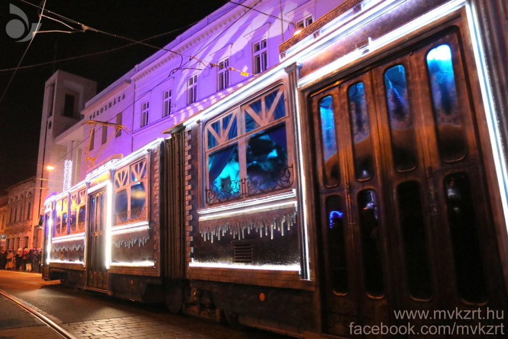 Miskolc, tram, advent, transport