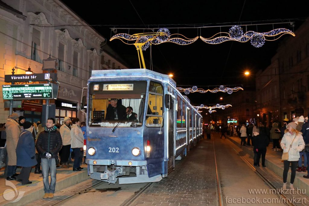 Miskolc, tram, advent, transport