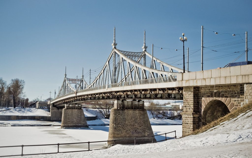 Tver bridge, Russia, replica, history
