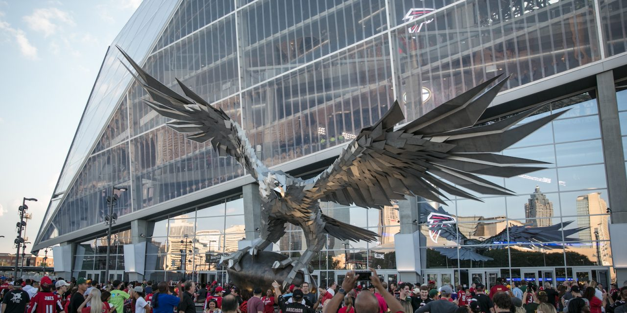Super Bowl LIII: All eyes on the world's largest Falcon sculpture made by Hungarian artist