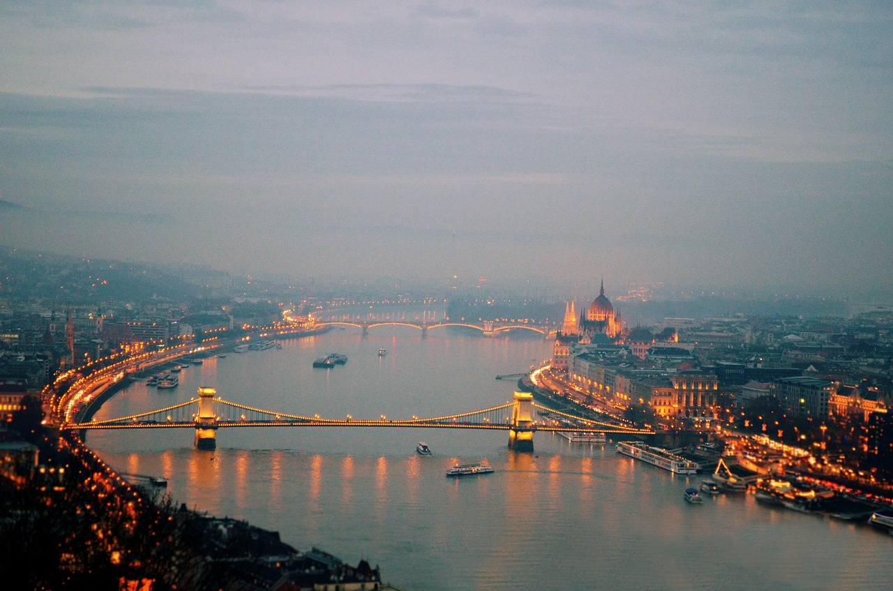 Budapest at early night