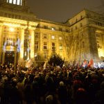 Late-night demonstration held against chief prosecutor's office in Budapest