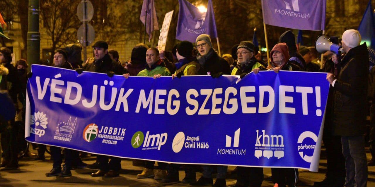 Anti-government demonstration held in Szeged
