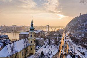 Tabán snow Budapest