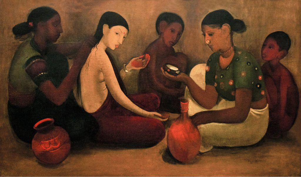 Amrita Sher-Gil, painting, portrait, Hungary, art, India