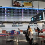 Budapest Airport, Hungary, screen, airport