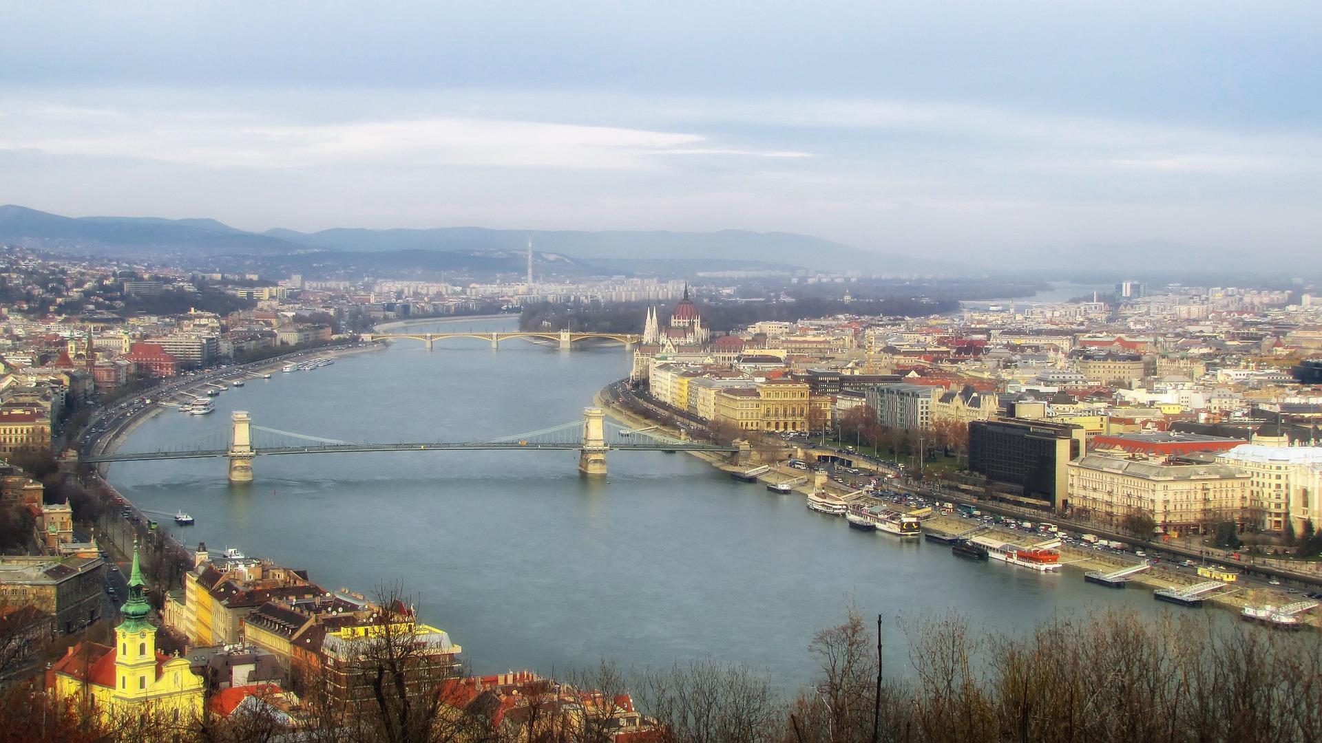 Budapest, Danube, view, Hungary, capital