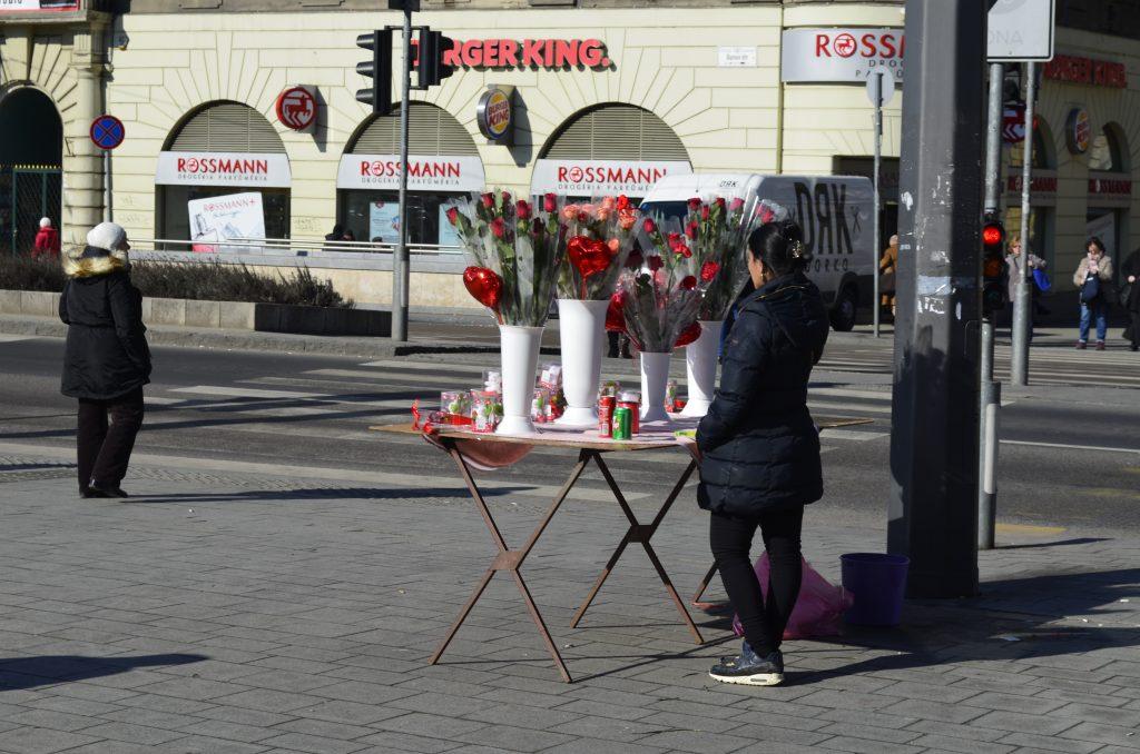 budapest people flowers urban