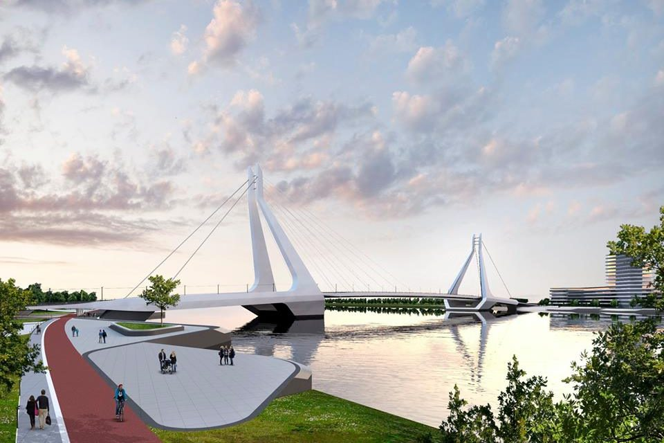 Construction of the Danube Bridge continues intensely – Photos