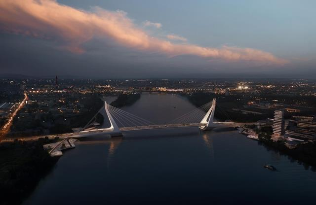 new Danube bridge in Budapest
