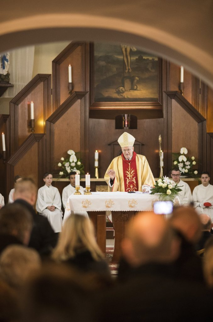 The Archbishop celebrates a Mass in Pócspetri, Hungary