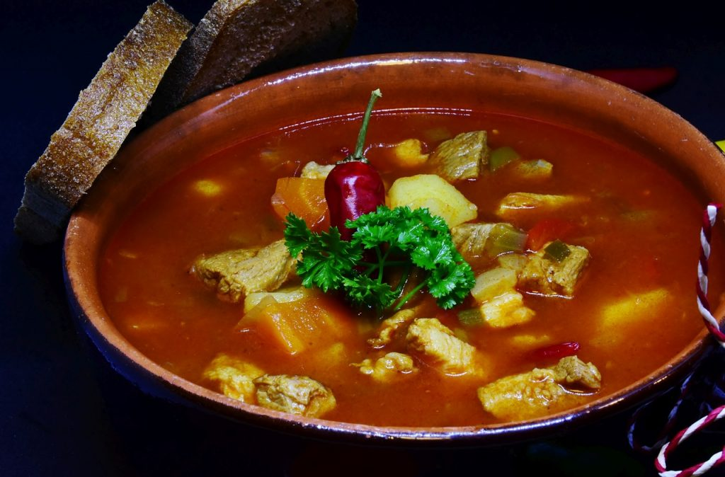 Goulash soup, Hungarian, traditional, food