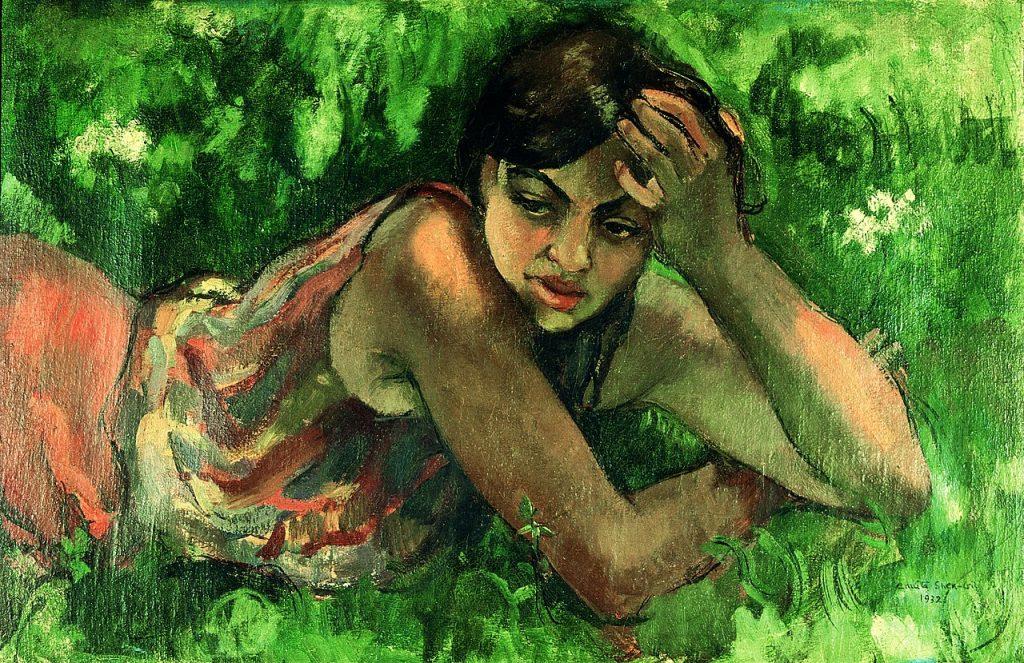 Amrita Sher-Gil, painting, portrait, Hungary, art, India