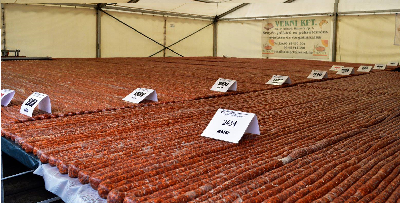 #hungary #hungarian #village breaks world record, longest sausage