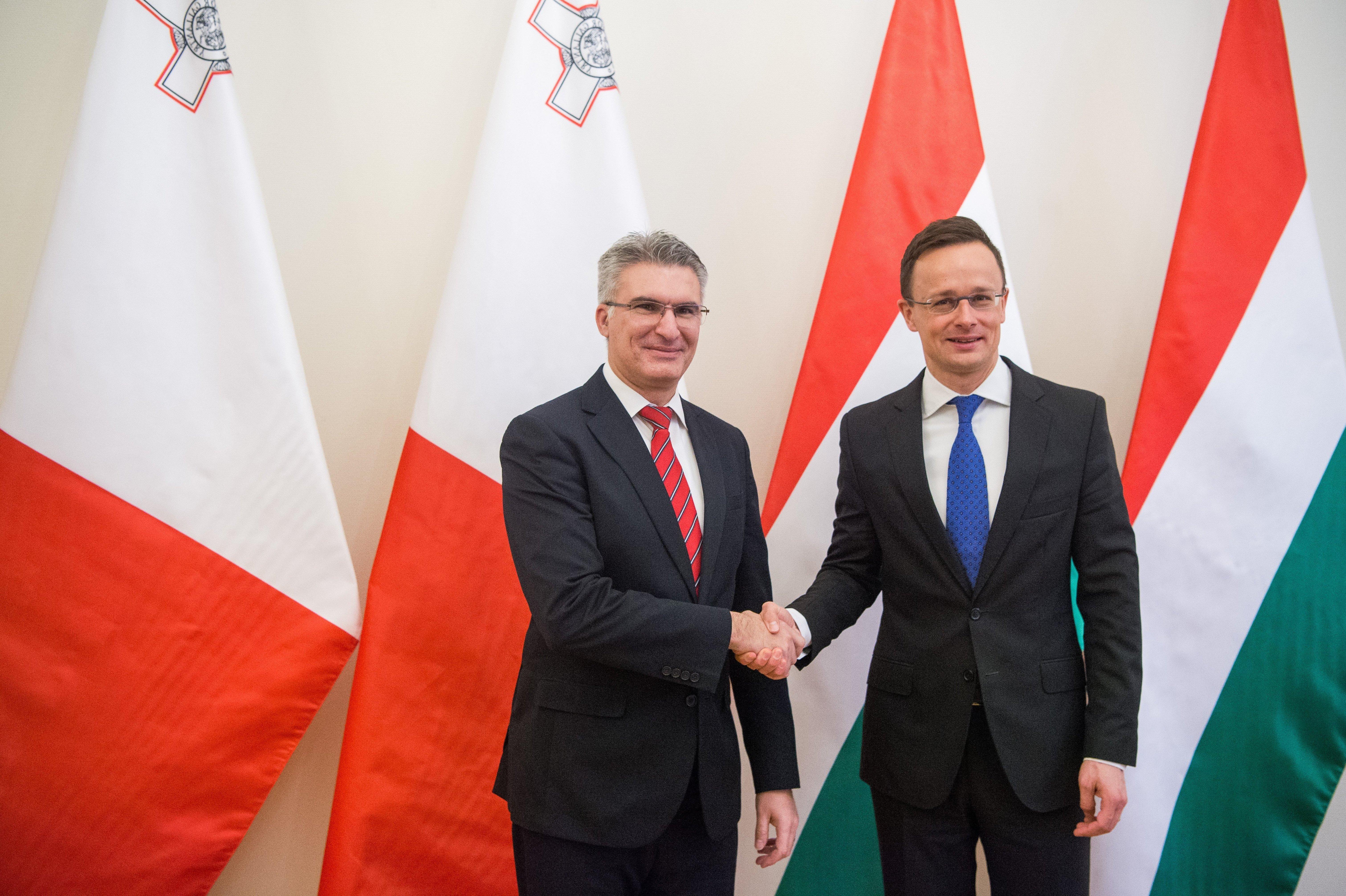 Maltese foreign minister in Budapest