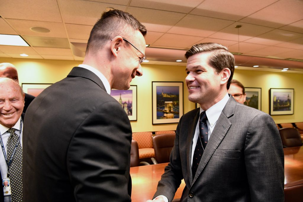 Szijjártó said he had met with Assistant Secretary of State for European and Eurasian Affairs Wess Mitchell