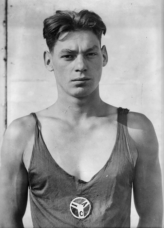 Weissmuller, swimming, portrait, Olympics