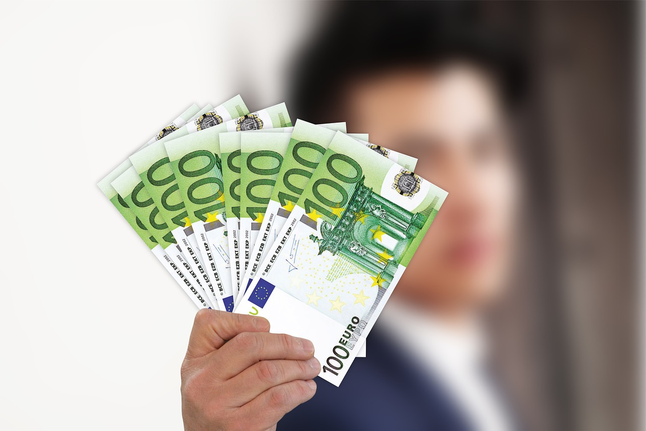 businessman euro money