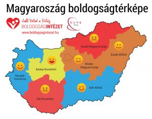 #Happiness #map of #Hungary by regions
