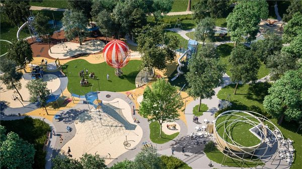 Exciting! one of Europe's most complex playgrounds to be built in Budapest