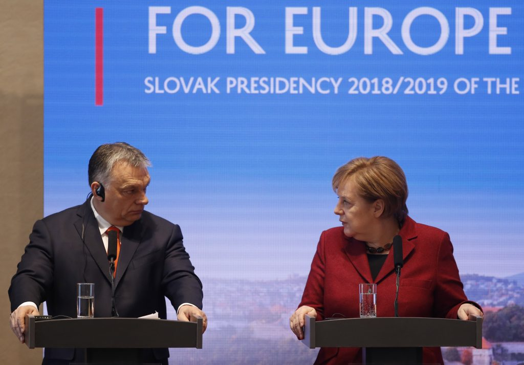 meeting of Visegrad Group prime ministers and German Chancellor Angela Merkel