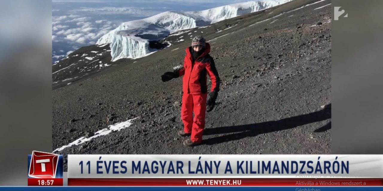 Hungarian 11 years old girl on top of Kilimanjaro!