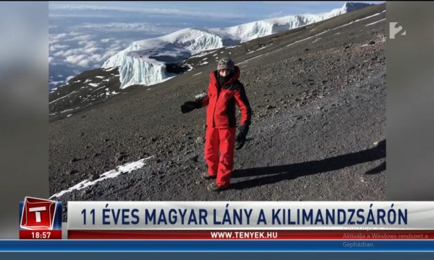 Hungarian 11 years old girl on top of Kilimanjaro!