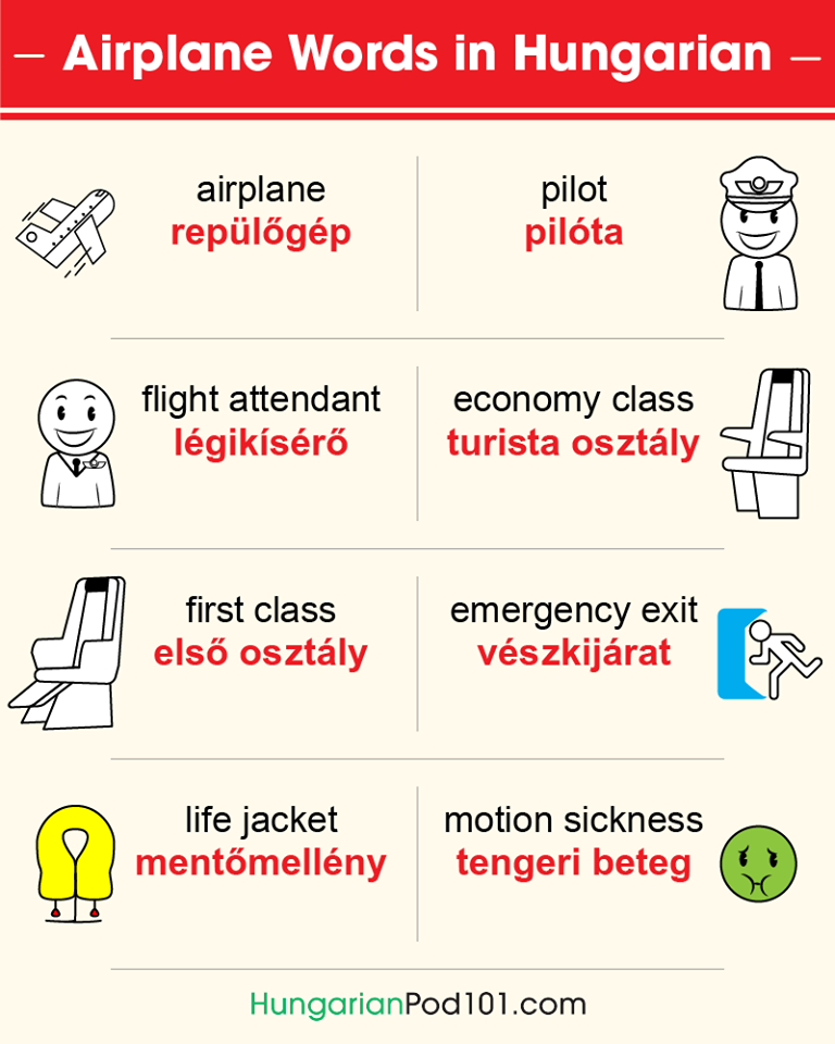 Airplane words in Hungarian