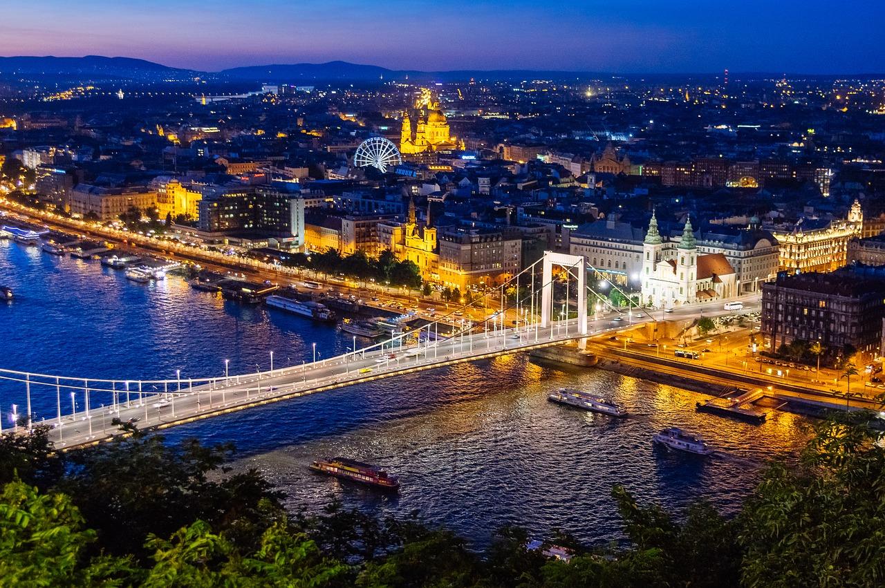 Budapest, night, Hungary, cheapest