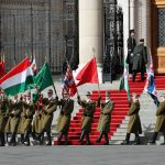 March 15 Hungary National flag hoisted